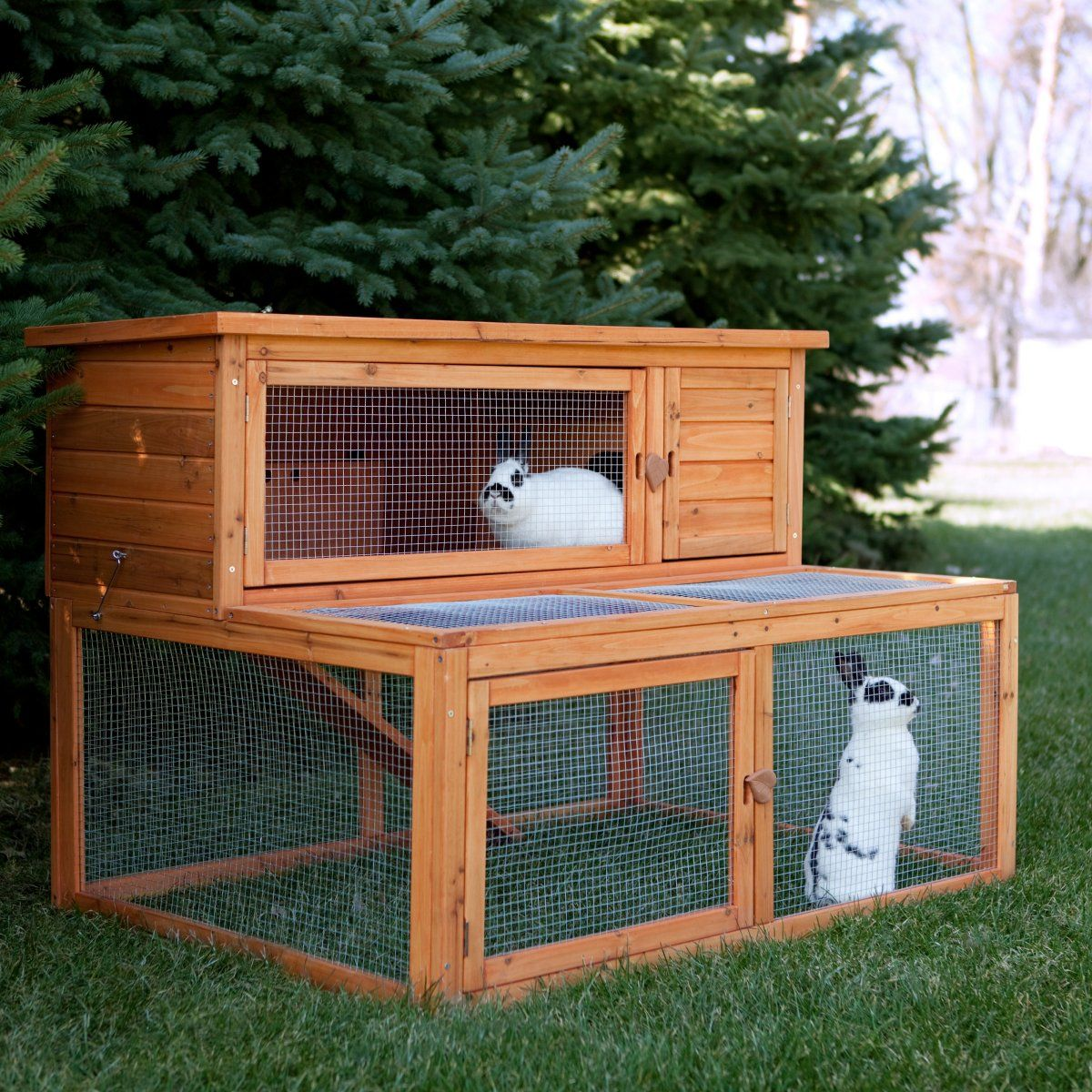 Rabbit cages on pinterest rabbit hutches rabbit cages for How to make a bunny hutch