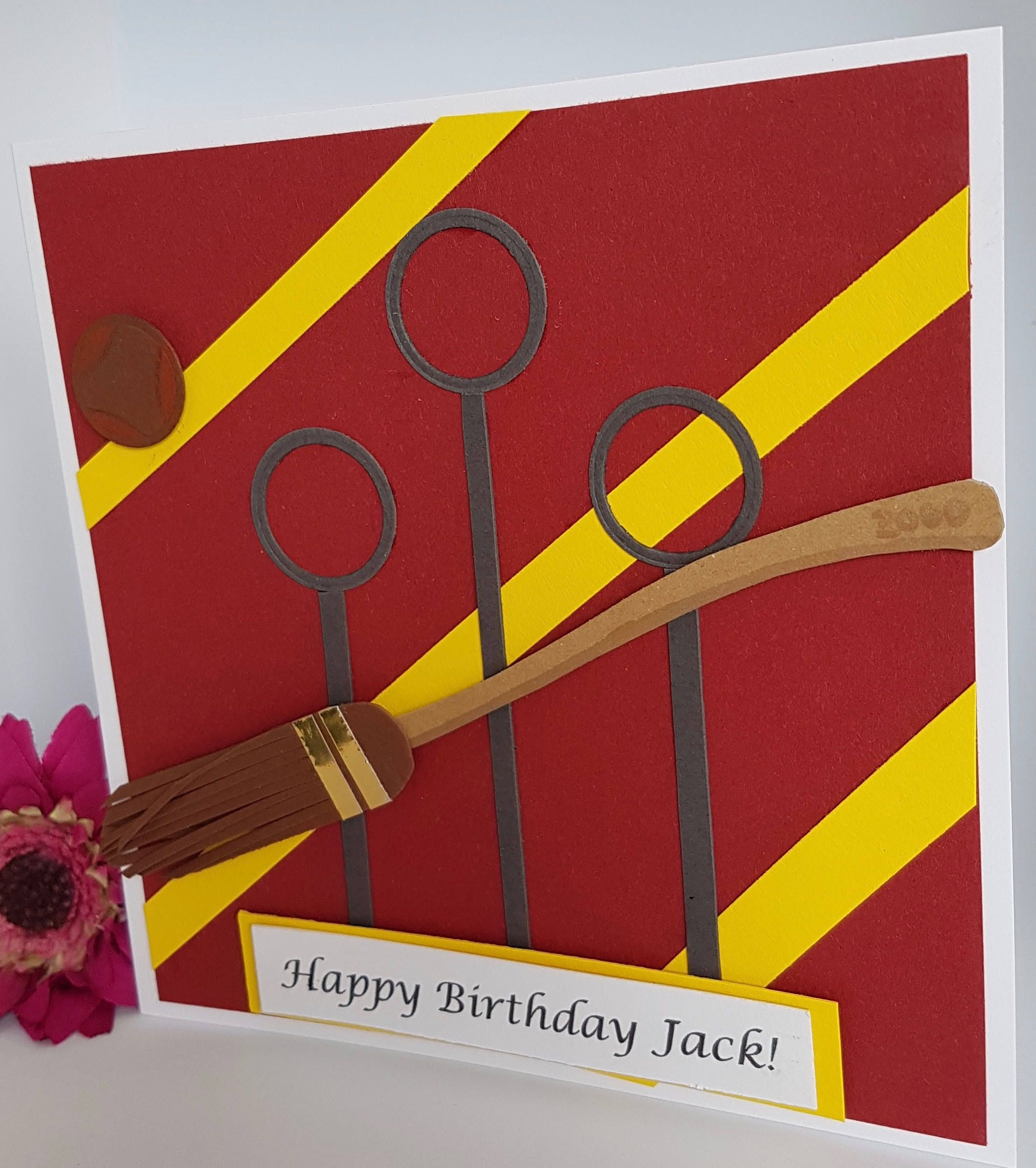 Personalised Quidditch Hogwarts Harry Potter Birthday Card Handmade Kids Adults Bd Harry Potter Cards Happy Birthday Cards Handmade Harry Potter Birthday Cards