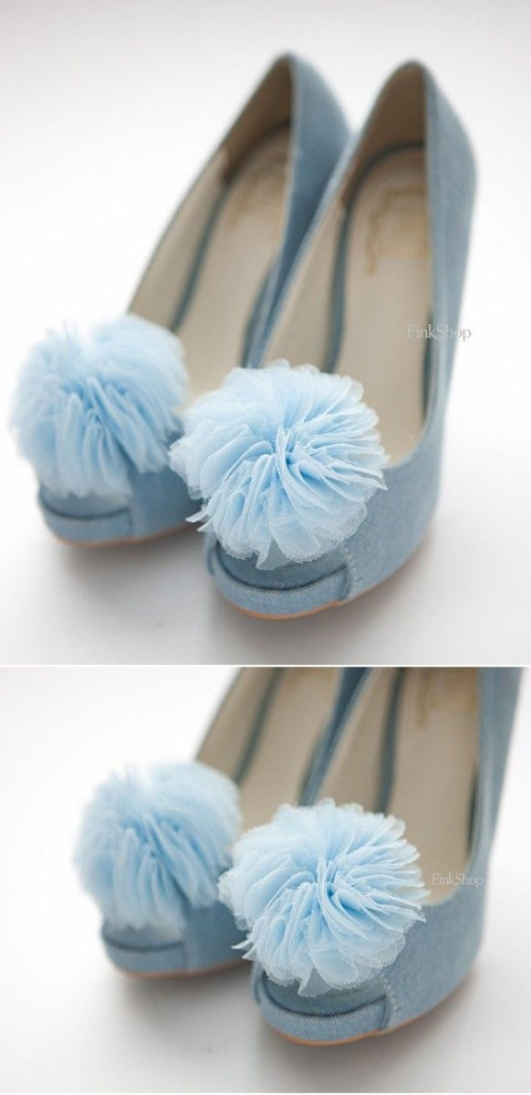 These Are Like...blue Tinker Bell Shoes. :D