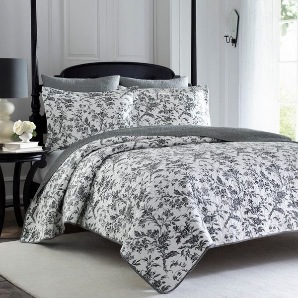 Laura Ashley Amberley 3-Piece Quilt Set on www.overstock.com