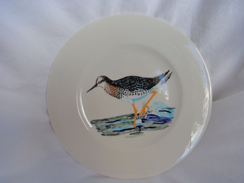 Handpainted Bird Plate Sandpiper Donald Smith New Hartford