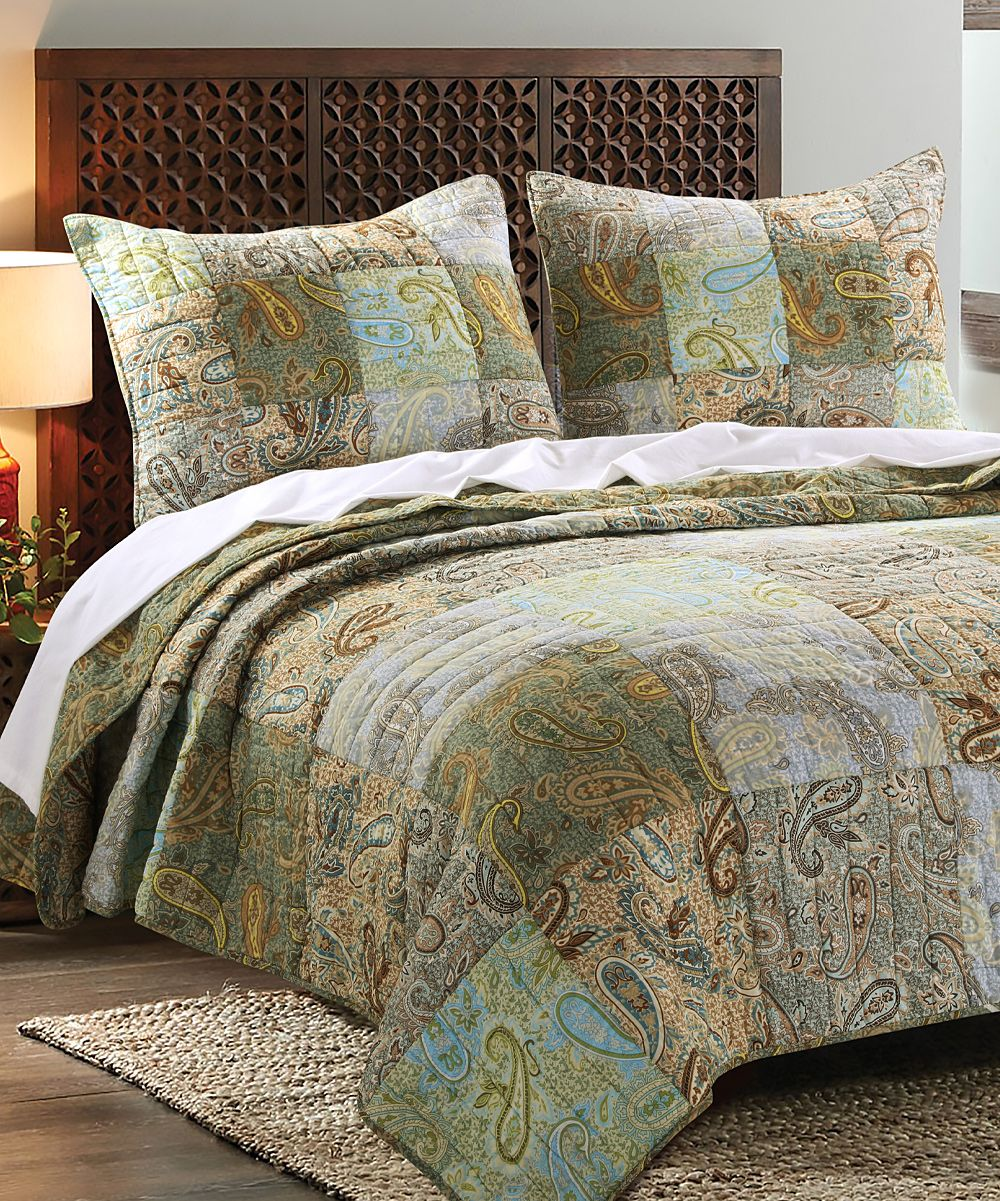 greenland home fashions paisley dream quilt set - Greenland Home Fashions