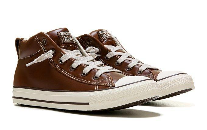 dc860ea1a5b2e1 Converse Men s Chuck Taylor All Star Street Mid Top Leather Sneaker Shoe