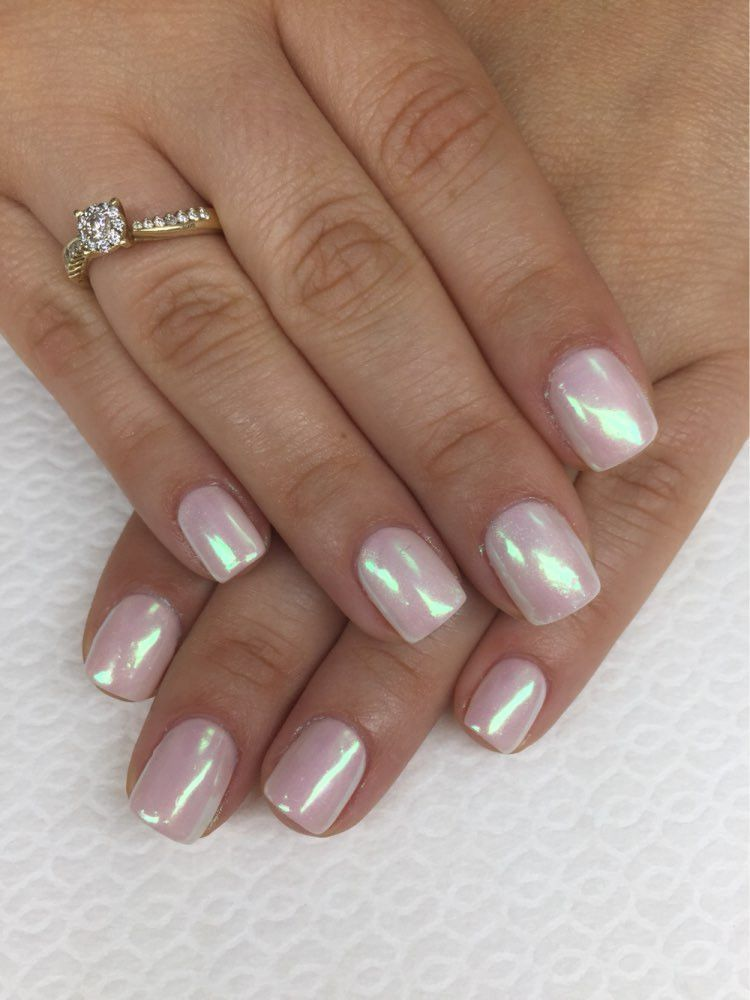 Mirror Nail Glitter Acrylic Nail Design For New Years For Christmas