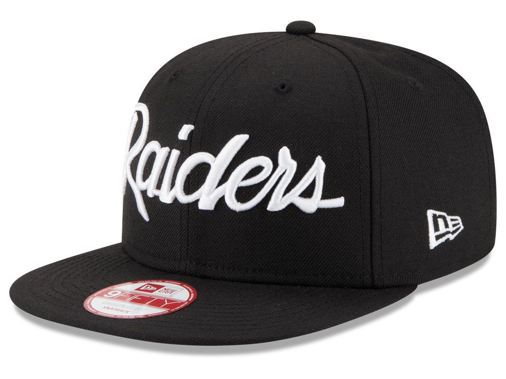 Oakland Raiders New Era NFL LIDS 20th Anniversary Script 9FIFTY Snapback Cap eec332560