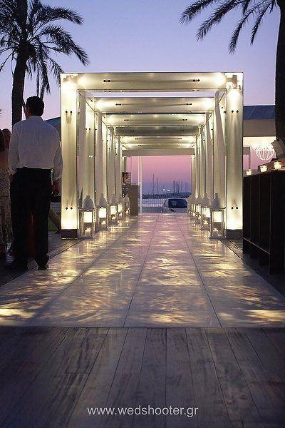 wedding venue entryway. Vive Mar in Voula Beach, Athens ...