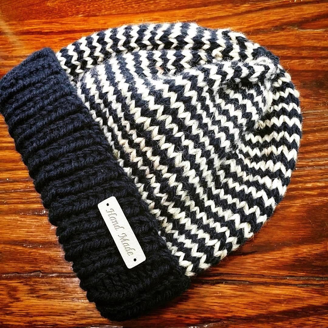435d5757c5032 手編みのニット帽☆編み込み模様の編み方・編み図 棒針編み  – Handful ...