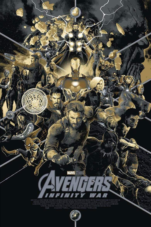 Variant Movie Poster For Avengers Infinity War 2018 Marvel