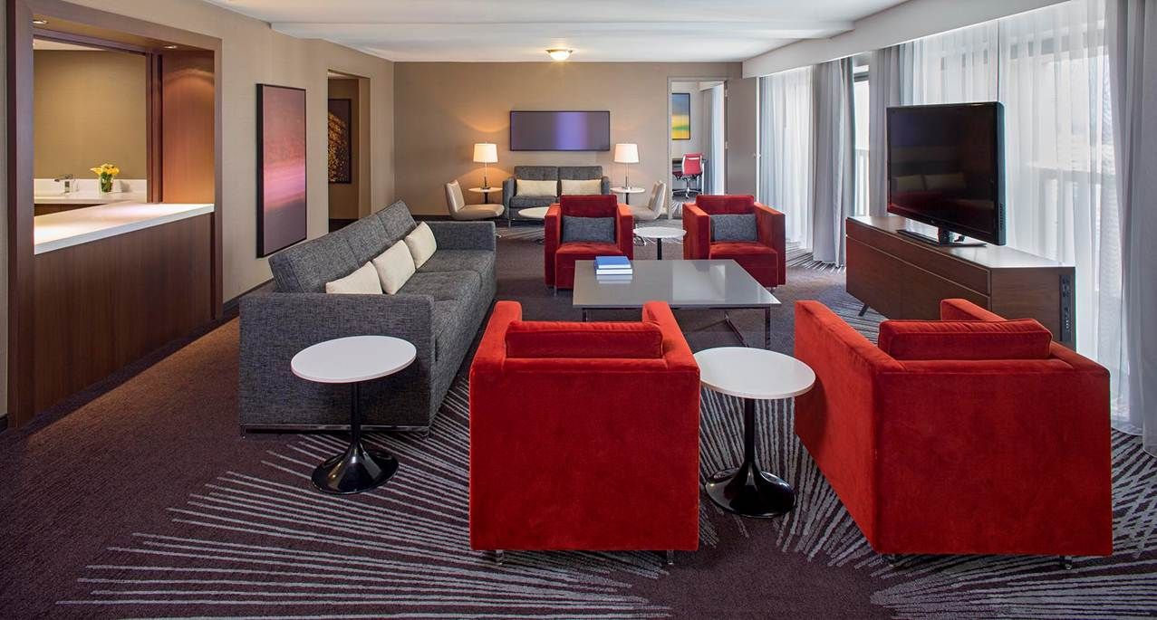 three bay suite at hyatt regency atlanta stay at hyatt regency rh pinterest com