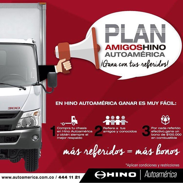 Con el #PlanAmigoHinoAutoamérica, por cada referido ganas $100,000 en bonos de combustible. Mayor información en: http://ow.ly/Co9v305zgel  #ToyotaesToyota #Autoamérica #100%Toyota #Toyotero #Toyotalover #OffRoad #TeamToyota #ToyotaNation #Toyoteros #4x4 #Toyota #MantenimientoExpress #QuickRepair
