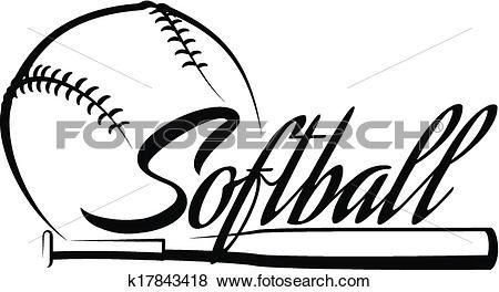 softball ball banner softball pinterest rh in pinterest com girls softball clipart free girl softball player clipart
