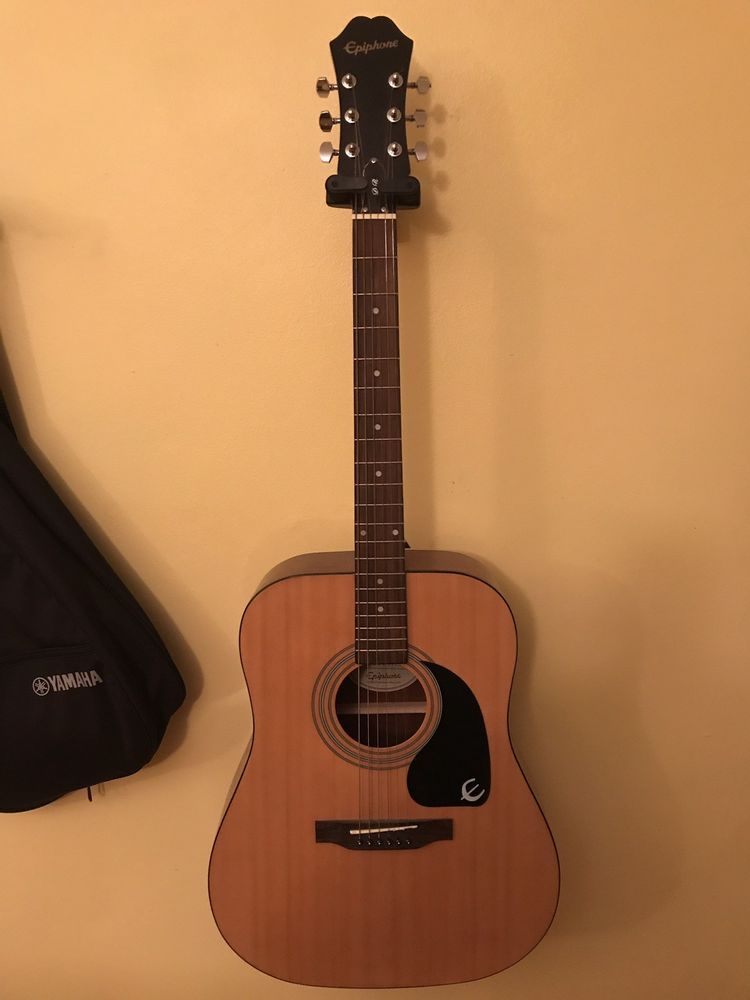 Epiphone Dr 100 Dreadnought Acoustic Guitar Used In Excellent Condition Epiphone Guitar Acoustic Guitar