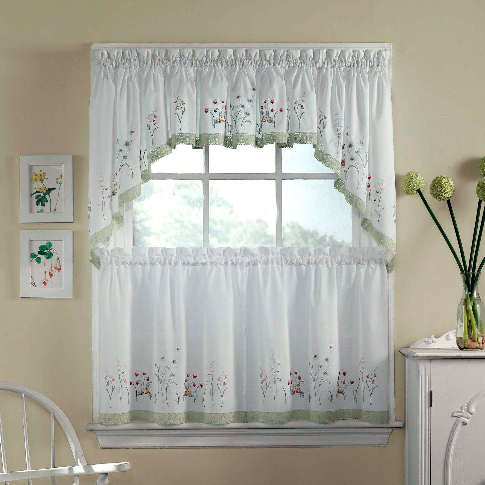 Have to have it. CHF Industries Garden Flowers Tiered Kitchen Curtain - One Pair $14.99