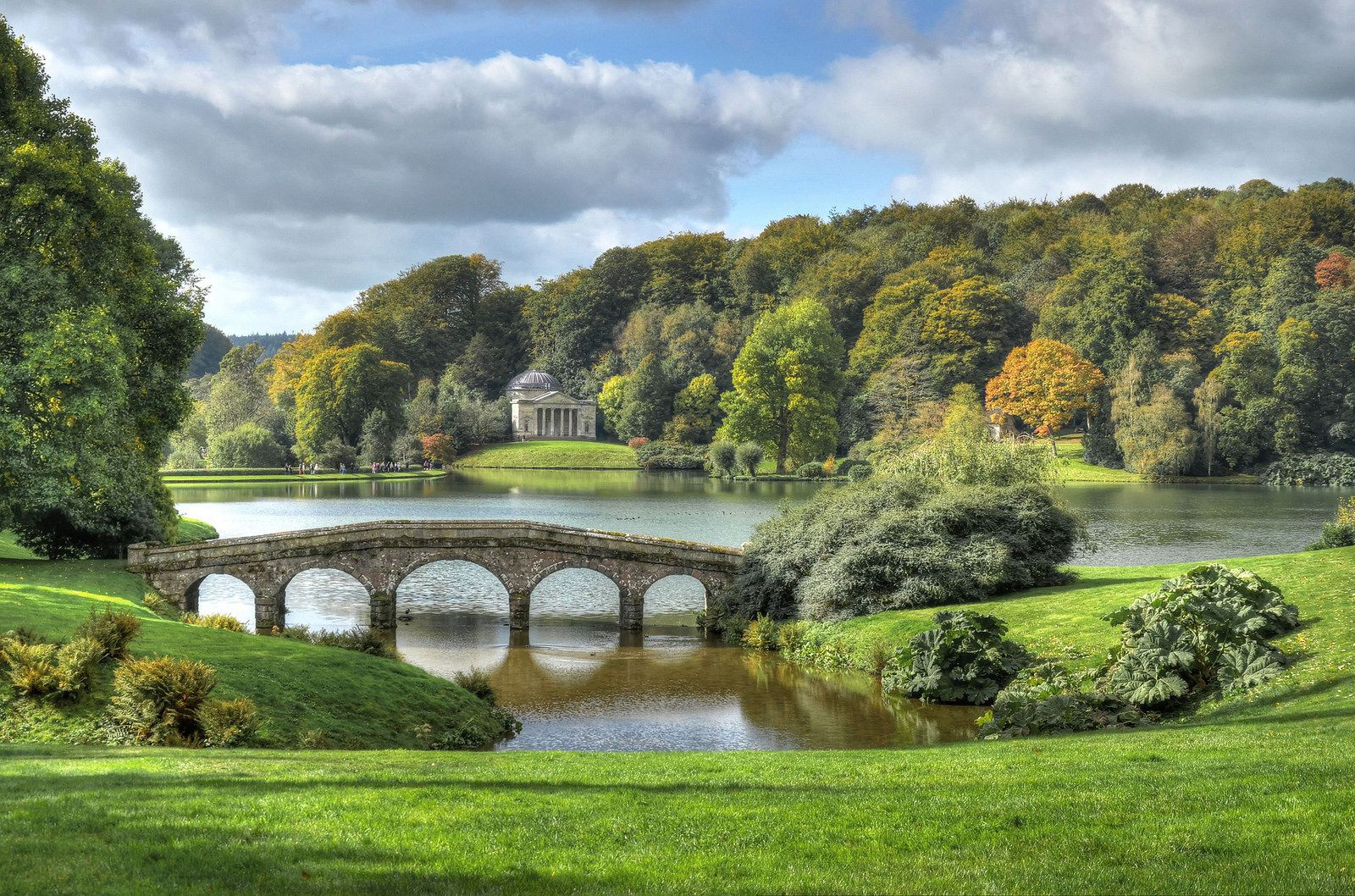 Stourhead Gardens Wiltshire Ireland Landscape Scenery Beautiful Landscapes