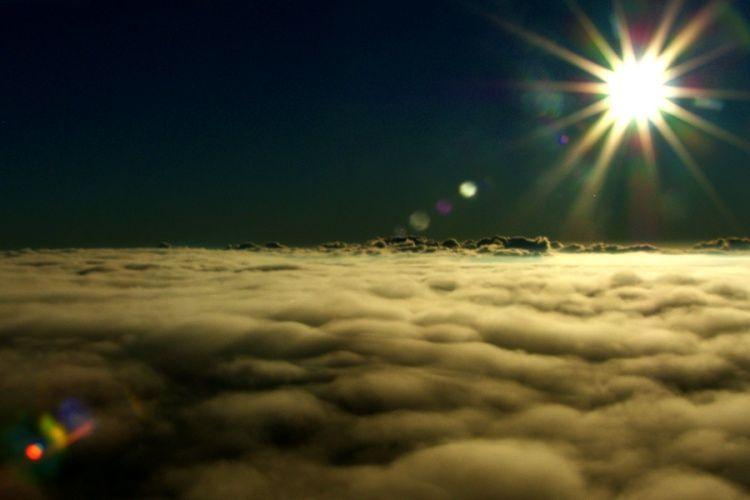 Acima das nuvens - Luz - paz