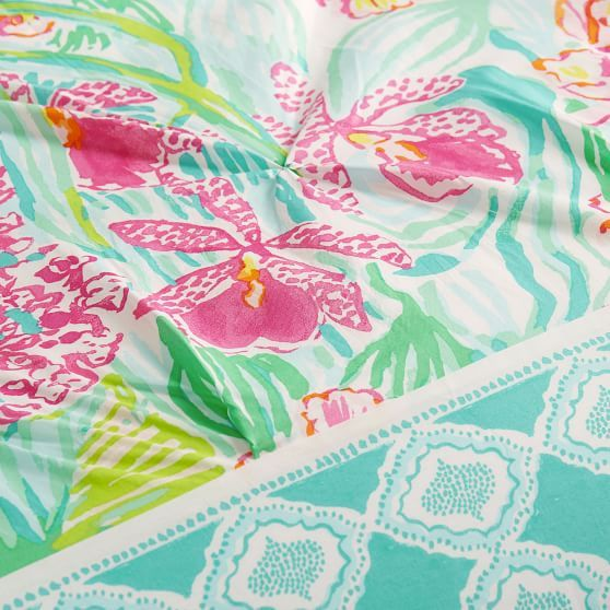 Lilly Pulitzer Orchid Border Duvet Cover + Sham in 2020