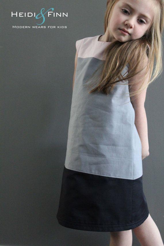 Colorblock dress pattern