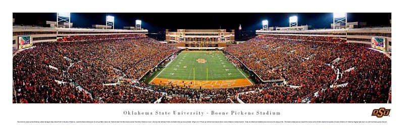 Oklahoma State Cowboys Panoramic Boone Pickens Stadium Picture Oklahoma State Football Oklahoma State University Oklahoma State