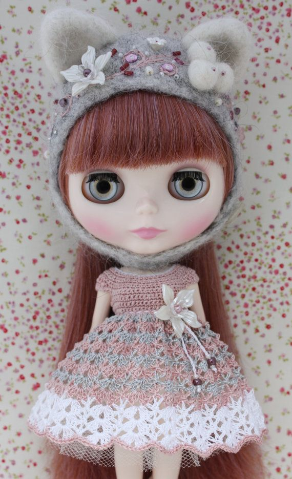 Blythe Beautiful Crochet Dress by leshan on Etsy