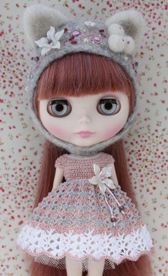 Blythe Beautiful Crochet Dress by leshan on Etsy