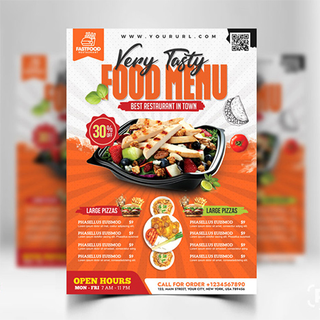 Restaurant Food Menu Flyer Psd Food Menu Templates Free Psd