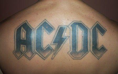Resultado De Imagen De Ac Dc Tattoo Acdc Tattoo Tattoos