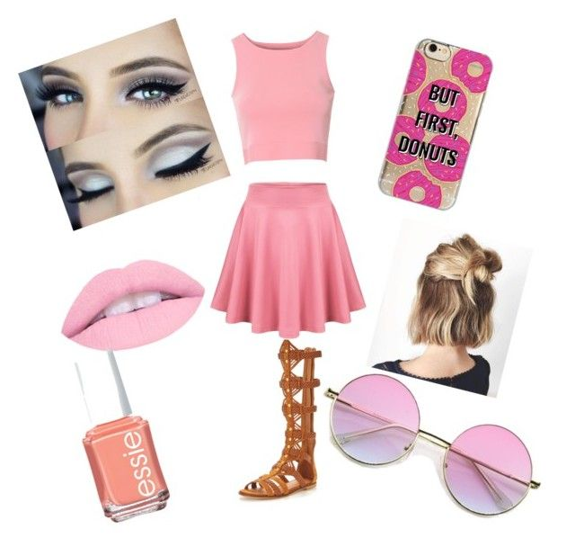 """""""Bubblegum"""" by bluejay100 on Polyvore featuring Glamorous, KG Kurt Geiger, Agent 18 and Essie"""
