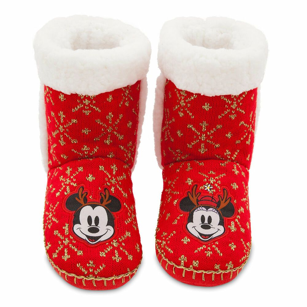 Ebay Advertisement Mickey Minnie Mouse Bootie Slippers Large 9 10