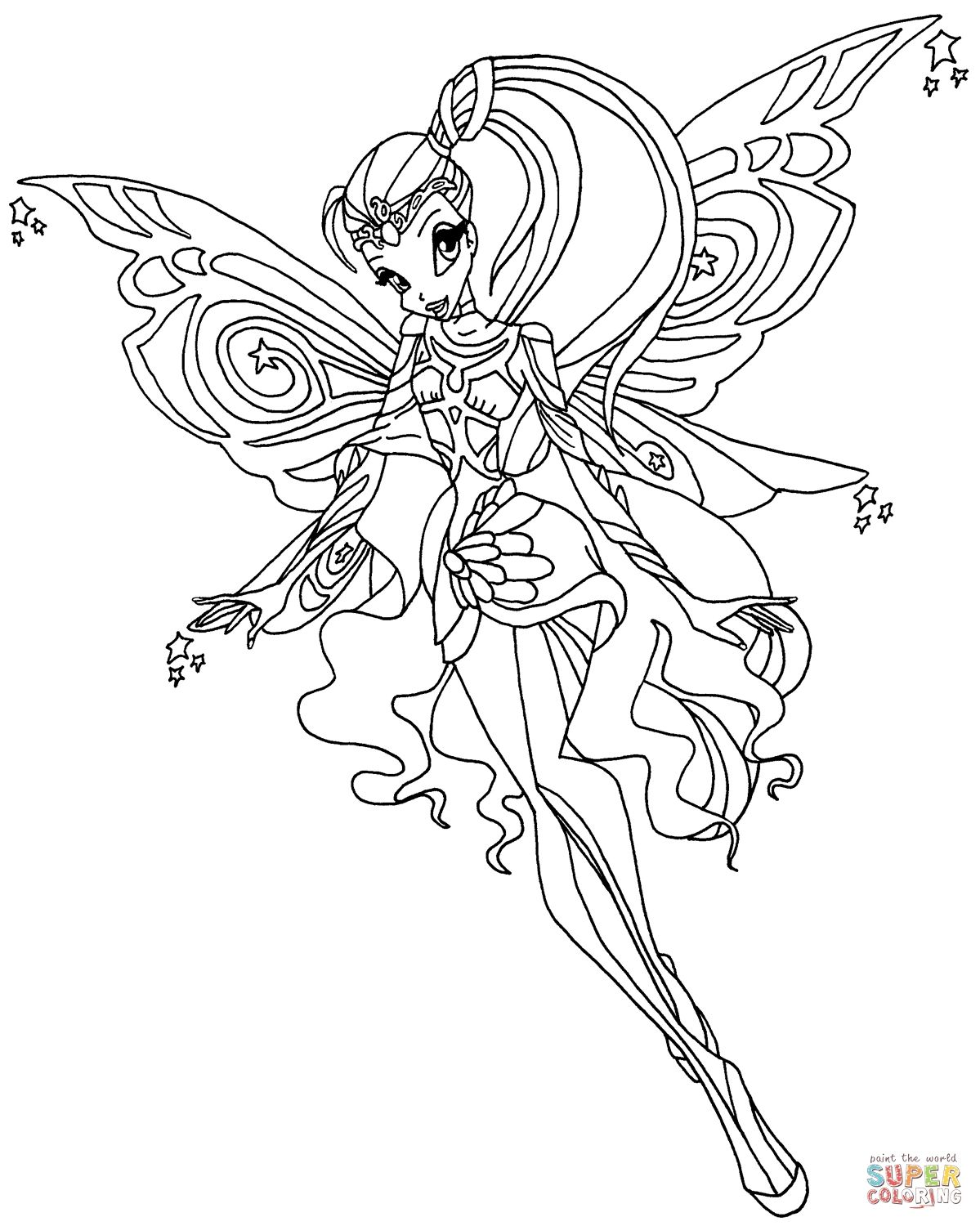 Winx Club Mythix Coloring Pages Printable