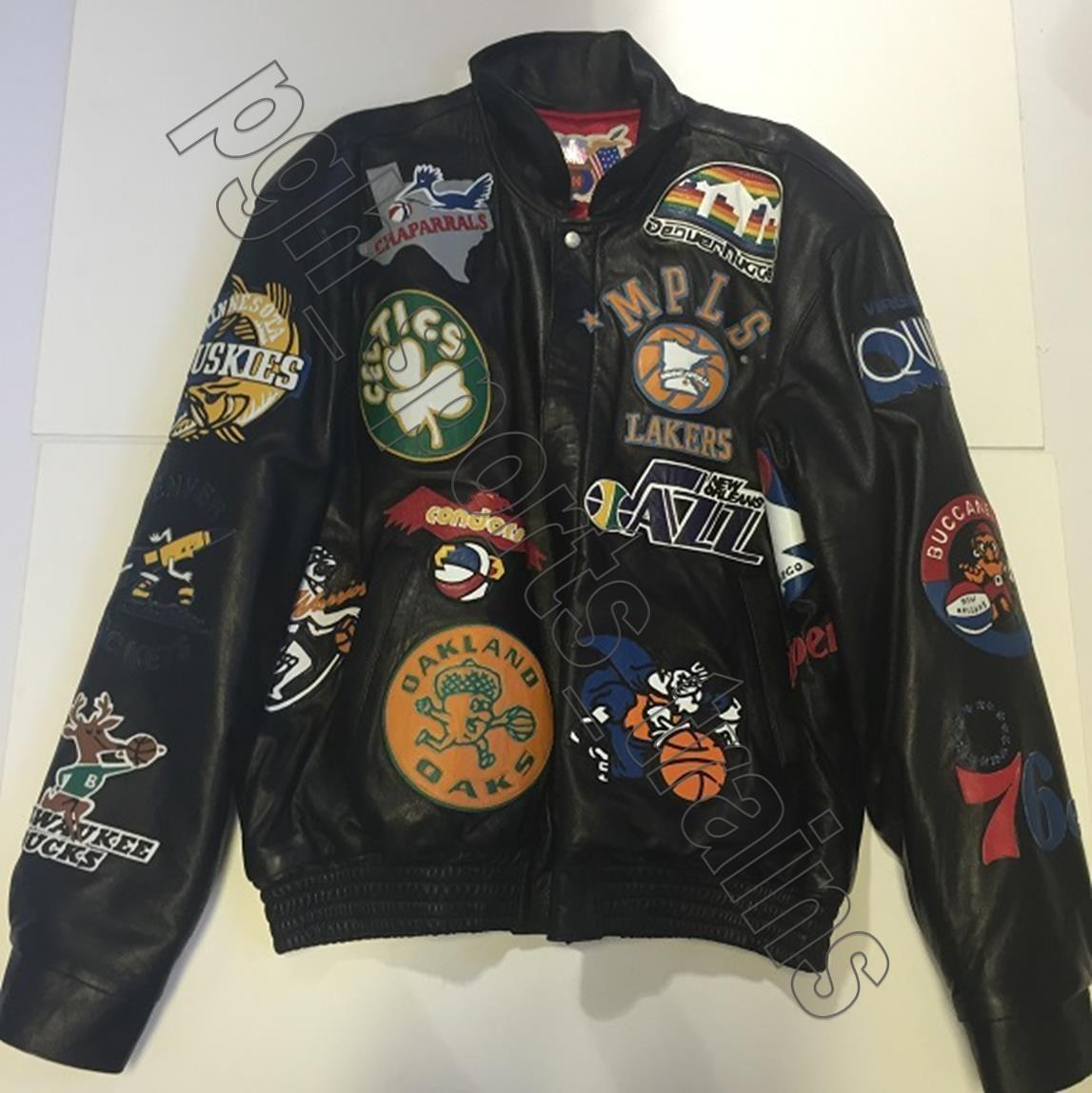 Jeff Hamilton NBA Hardwood Classics Lambskin Leather Jacket Black 2X-Large 1678c9098