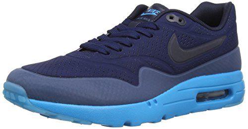 more photos 742d9 a74d4 Nike Air Max 1 Ultra Moire Herren Sneakerss, Blau (Midnight Navy Obsidian