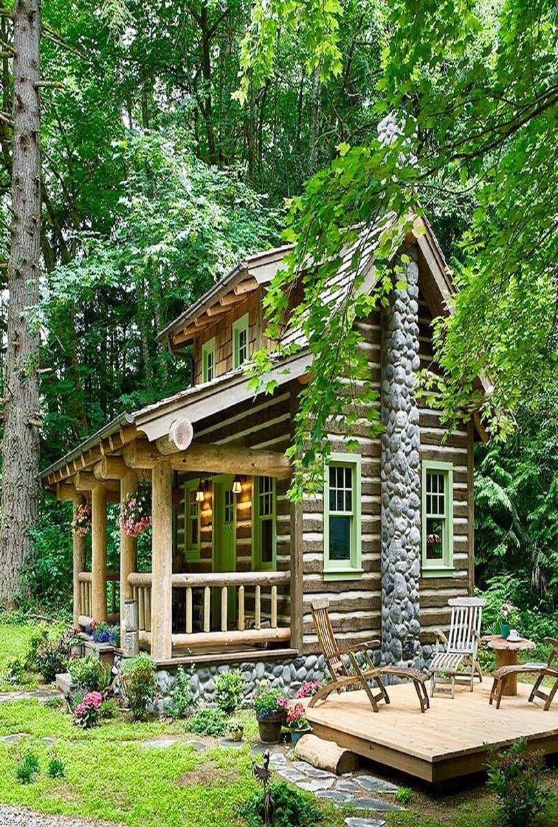 Small Log Cabin, Log Cabin Homes, Cabins