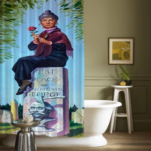 New Haunted Mansion George Rip Best Design High Quality Shower Curtains 60x72