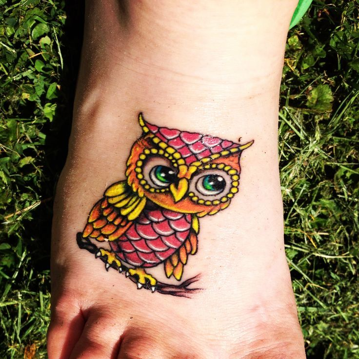 ead0843e6 Baby Owls Tattoos Baby Owls Tattoo Colors | Stuff to Buy | Baby owl ...