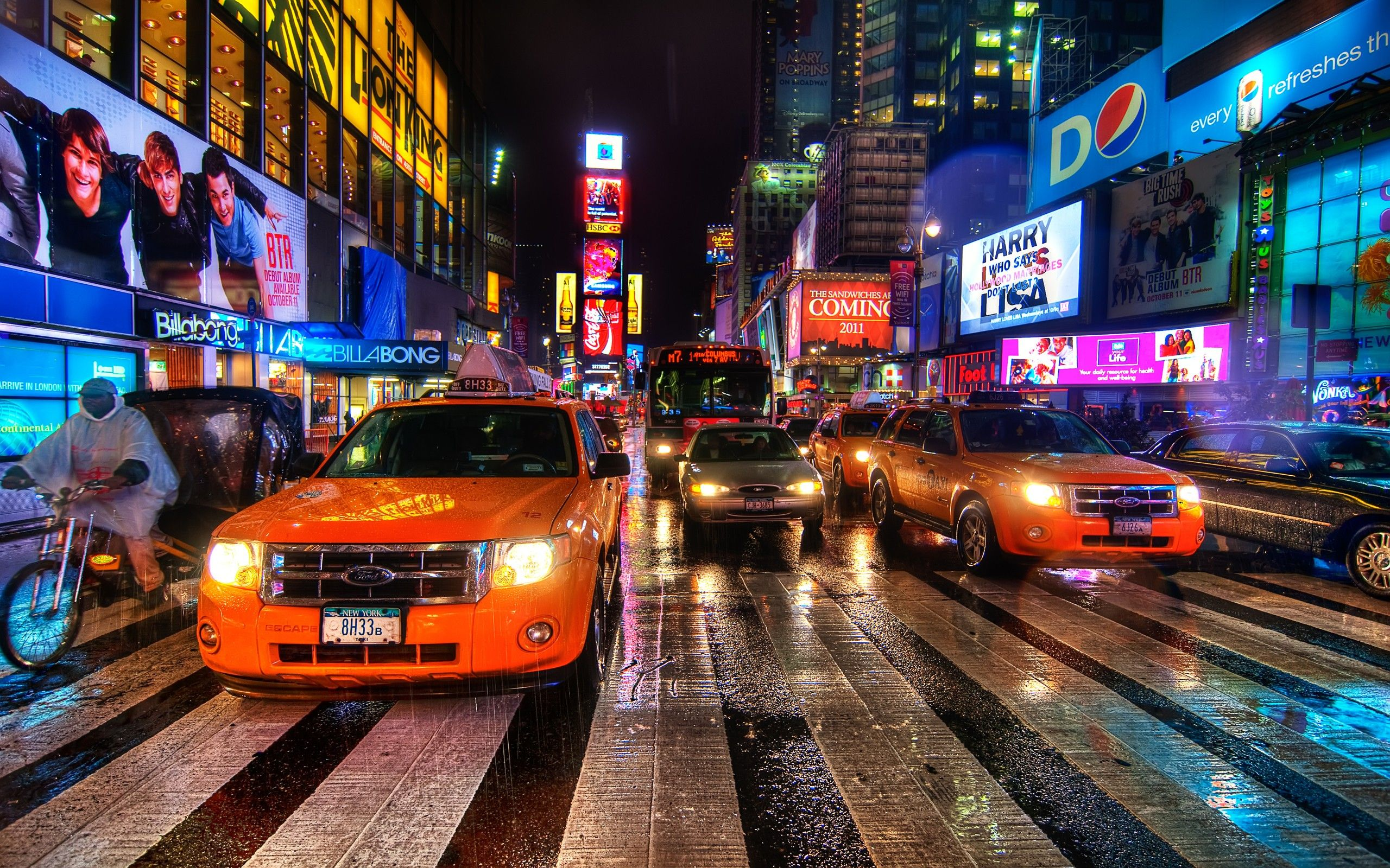 Cityscapes Streets Traffic New York City Times Square Ny Hd Wallpapers: Hd New York City Wallpaper [2560x1600PX] | Meripuisto