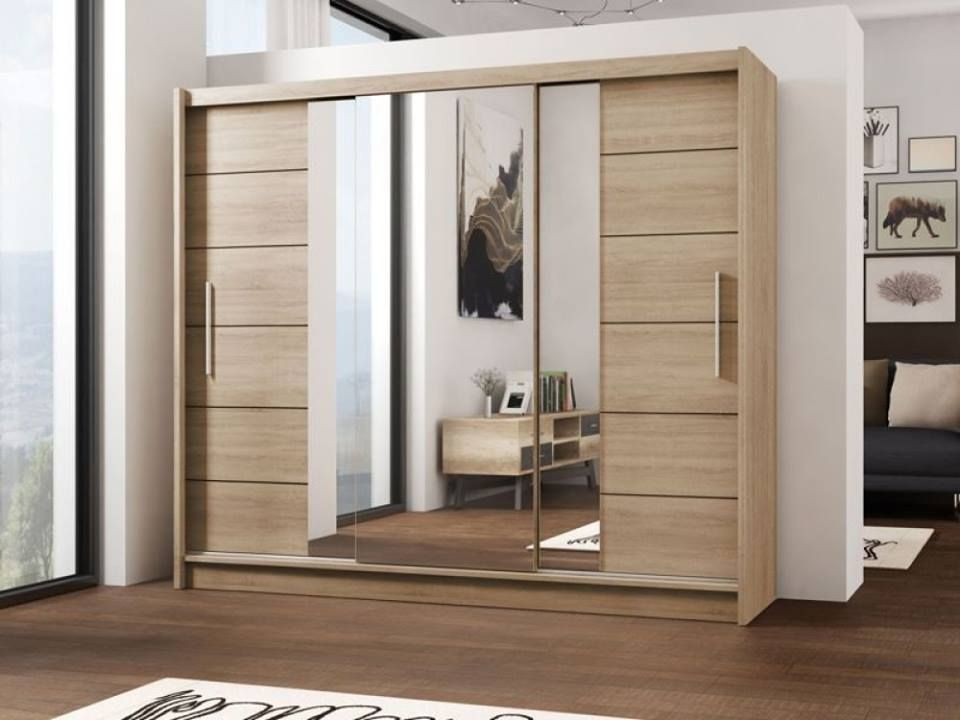 Lizbona Sliding Door Wardrobe Oak And White Bedroom Furniture Layout Contemporary Bedroom Design Bedroom Design