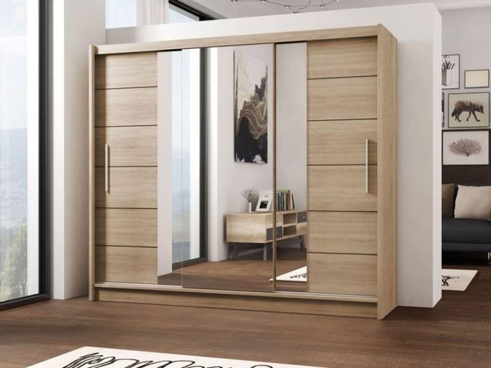 Lizbona Sliding Door Wardrobe - Oak and White | Luxurious ...