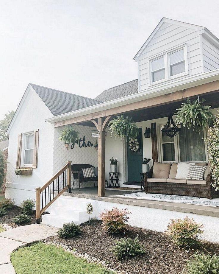 78 Amazing Farmhouse Front Porch Decorating Ideas That Make You Smile 10 Pickndecor Com Design In 2020 Modern Farmhouse Porch Porch Design House Exterior