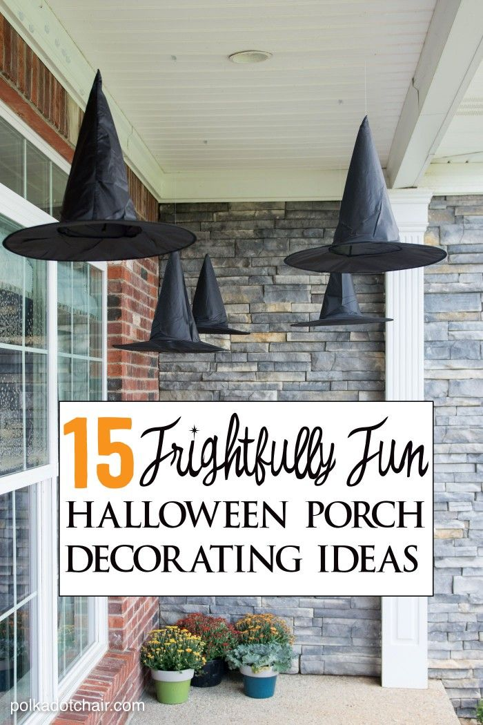 15 Frightfully Cute Ways to Decorate a Porch for Halloween Porch - ways to decorate for halloween