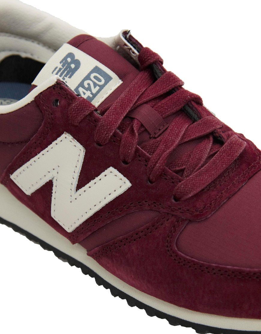 asos new balance 420 burgundy