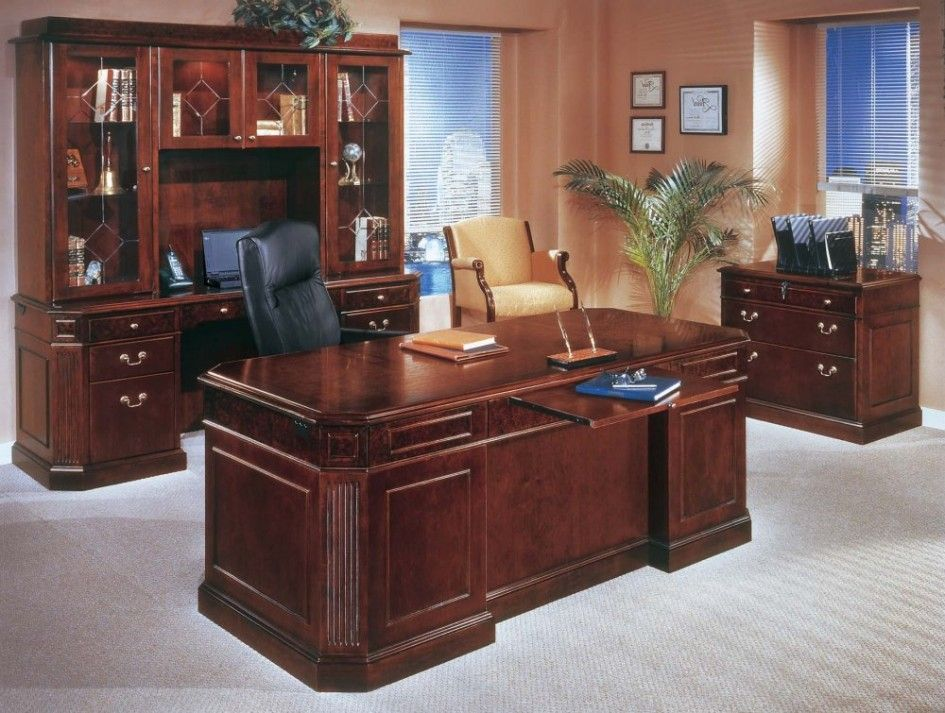 Furniture Vintage And Classic Office Interior Design Ideas With Executive Office Desk Luxury Office Furniture Home Office Furniture Design Office Desk For Sale
