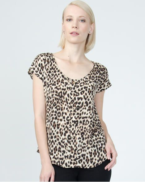 Le Chateau Leopard Print Shell Is Adding To My Animal Print Obsession This Summer Oshawa Centre Leopard Print Clothes Women