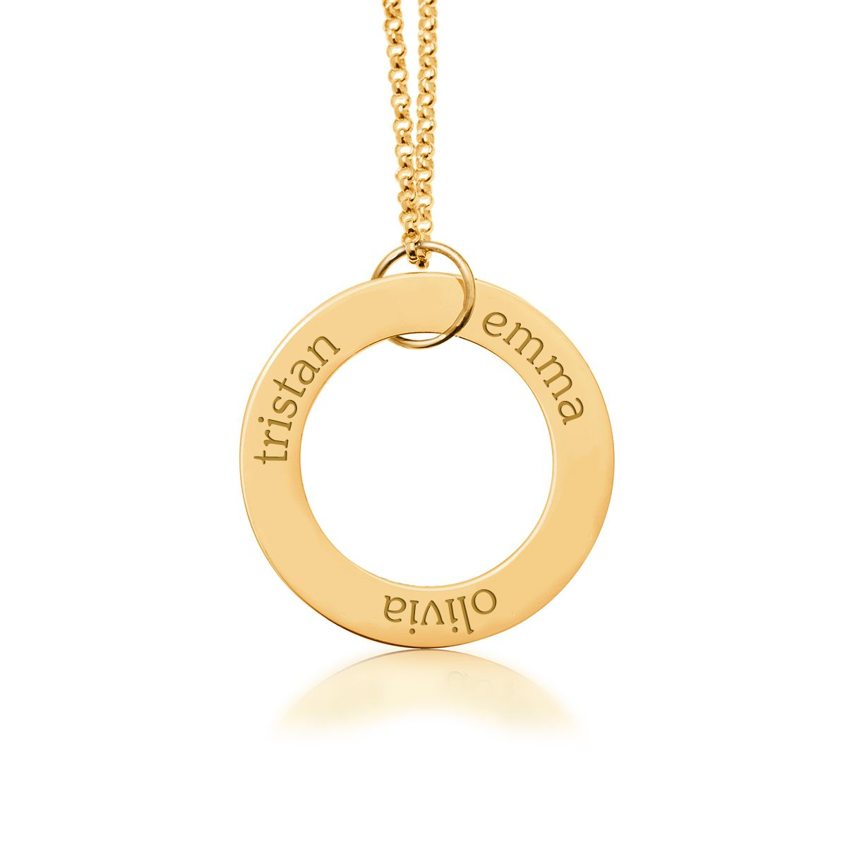 New mom necklace engraved circle pendant with 3 names mommy new mom necklace engraved circle pendant with 3 names gold i tiny tags aloadofball Choice Image