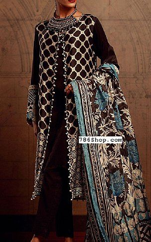3b40f3f94e Black/Chocolate Silk Suit | Buy Khaadi Pakistani Dresses and Clothing  online in USA, UK