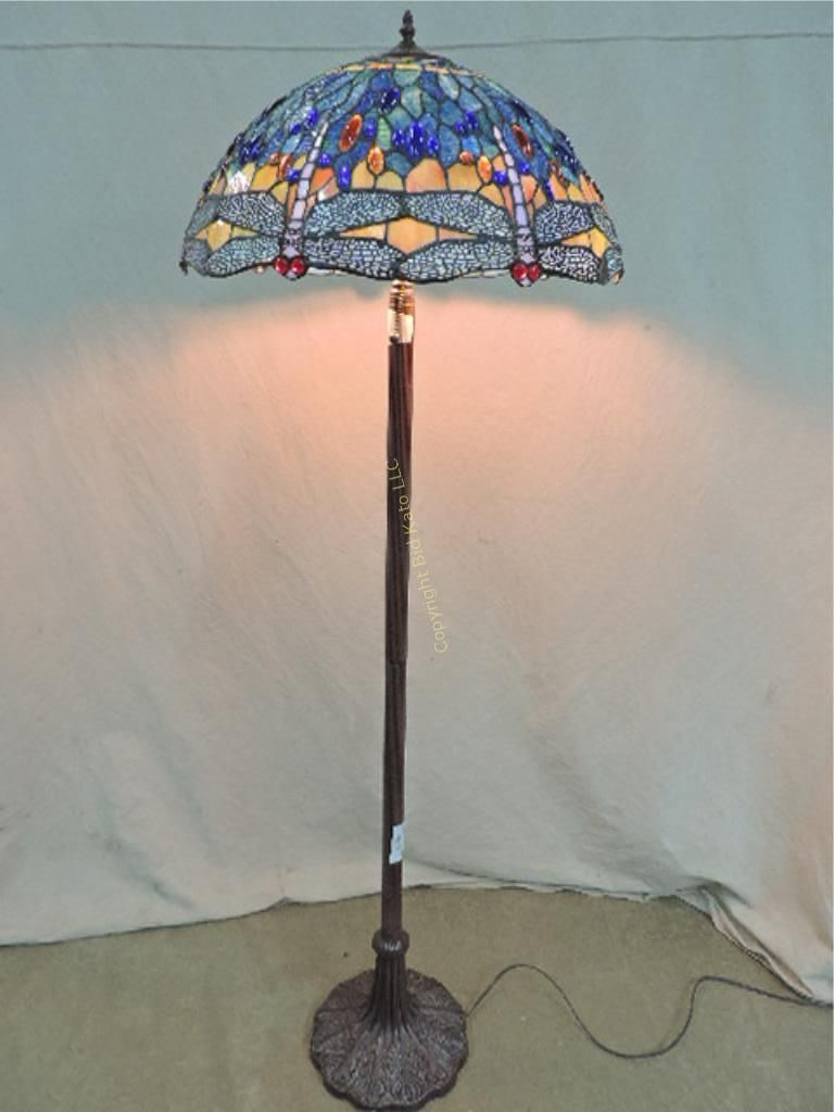 Blue floor lamp  Image result for floor lamp glass shade blue  Tiffany Glass Shades