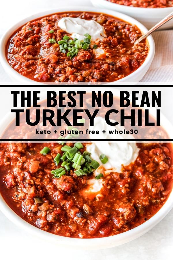 The Best No Bean Turkey Chili Recipe Ground Turkey Recipes Healthy Healthy Turkey Recipes Chili Recipe Turkey