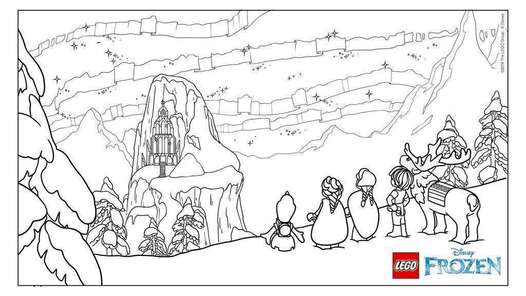 Frozen Para Colorear Castillo Coloring Pages Disney On Ice Lego Coloring Sheet