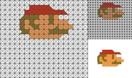 sliced pixels - Mario