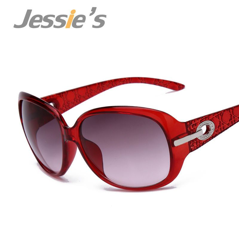 Das mulheres Elegantes Óculos de Sol Da Moda Gradiente Sunglass Metal Cristal Decoração Óculos de Sol Para As Mulheres Designer de Marca de Óculos de Sol