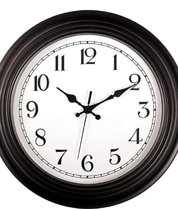 Foxtop 14 Inch Silent Non Ticking Retro Quartz Decorative Wall Clock Battery Classic Clocks Wall Clock Clock Wall Decor